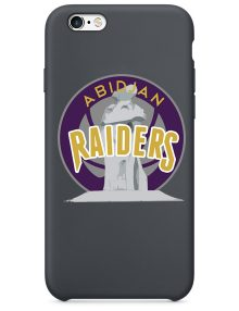 Abidjan Raiders Black hard Phone Case