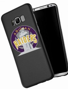 Abidjan Raiders Black hard Phone Cases
